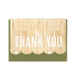 Thank You Woodgrain Greeting Card