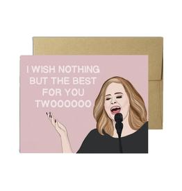 Adele Wedding Greeting Card