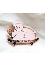 Live Fast, Love Hard Pin