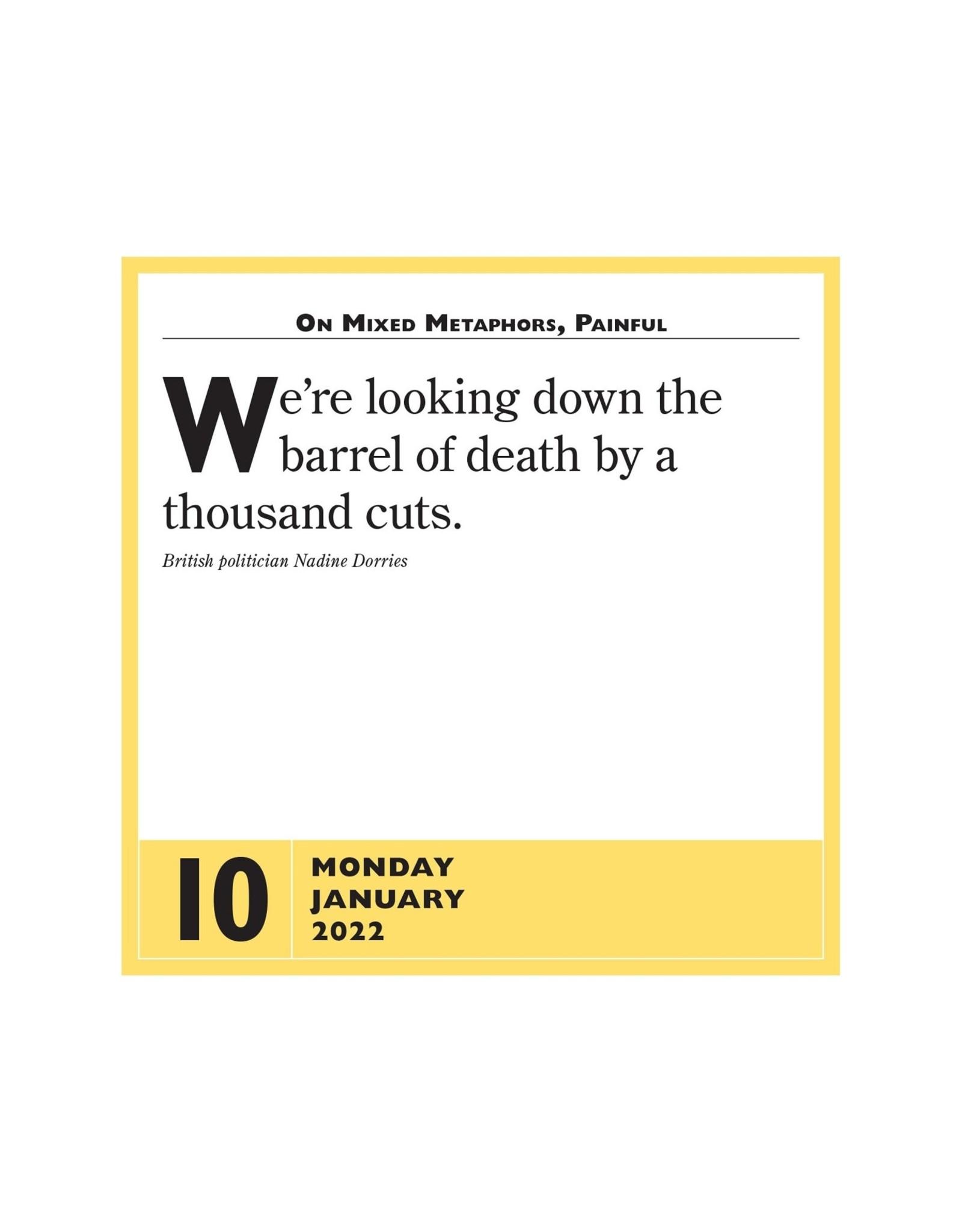 Stupidest Things Said 2022 Pad Calendar