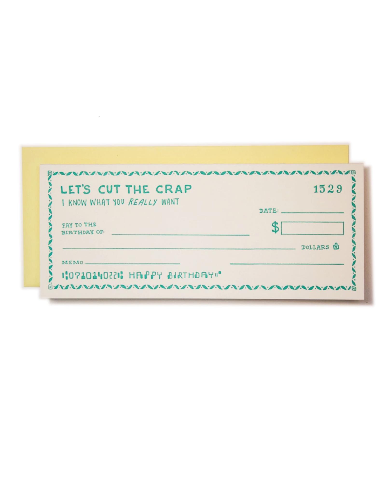 Birthday Check Greeting Card