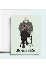 Bernie Vibes Greeting Card