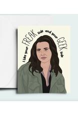 Freak Side, Geek Side Greeting Card