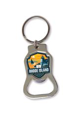 RI the Ocean State Bottle Opener Keychain
