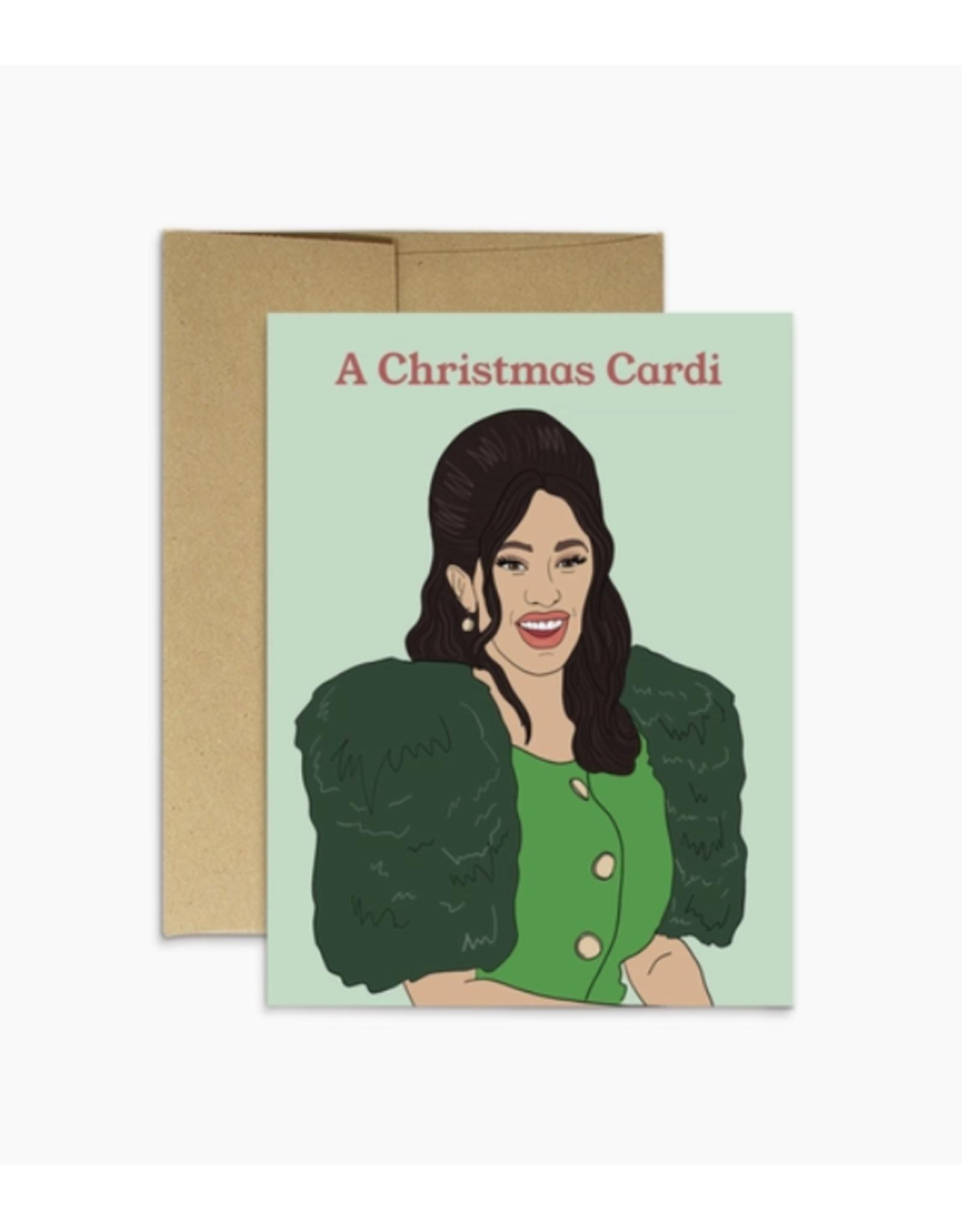 A Christmas Cardi (B) Greeting Card