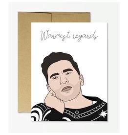 David Warmest Regards (Schitt's Creek) Greeting Card