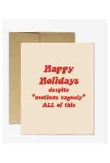 Happy Holidays Motions Vaguely Greeting Card