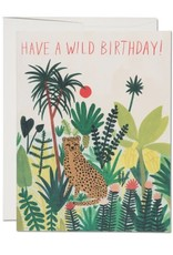 Happy Birthday Cheetah Greeting Card