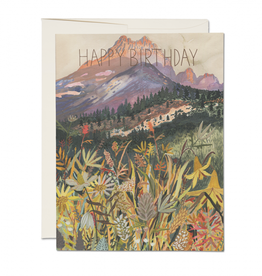 Happy Birthday Mountain View Greeting Card