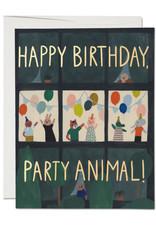 Happy Birthday Party Animal Greeting Card