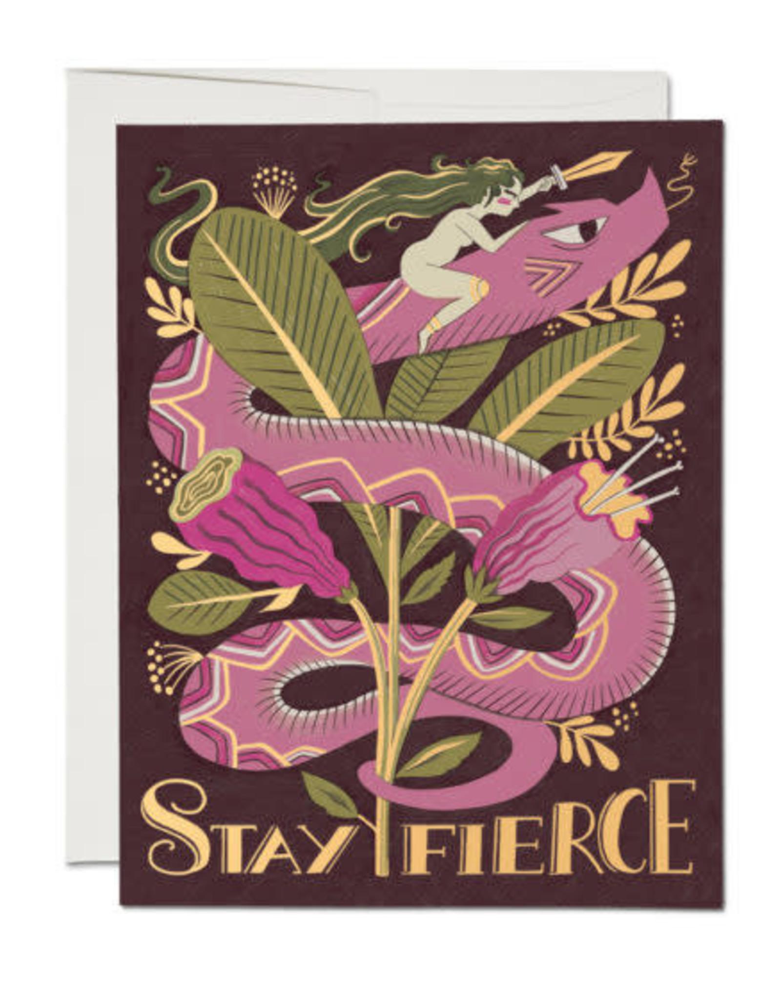 Stay Fierce Snake Greeting Card