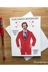 Anchorman Love Greeting Card