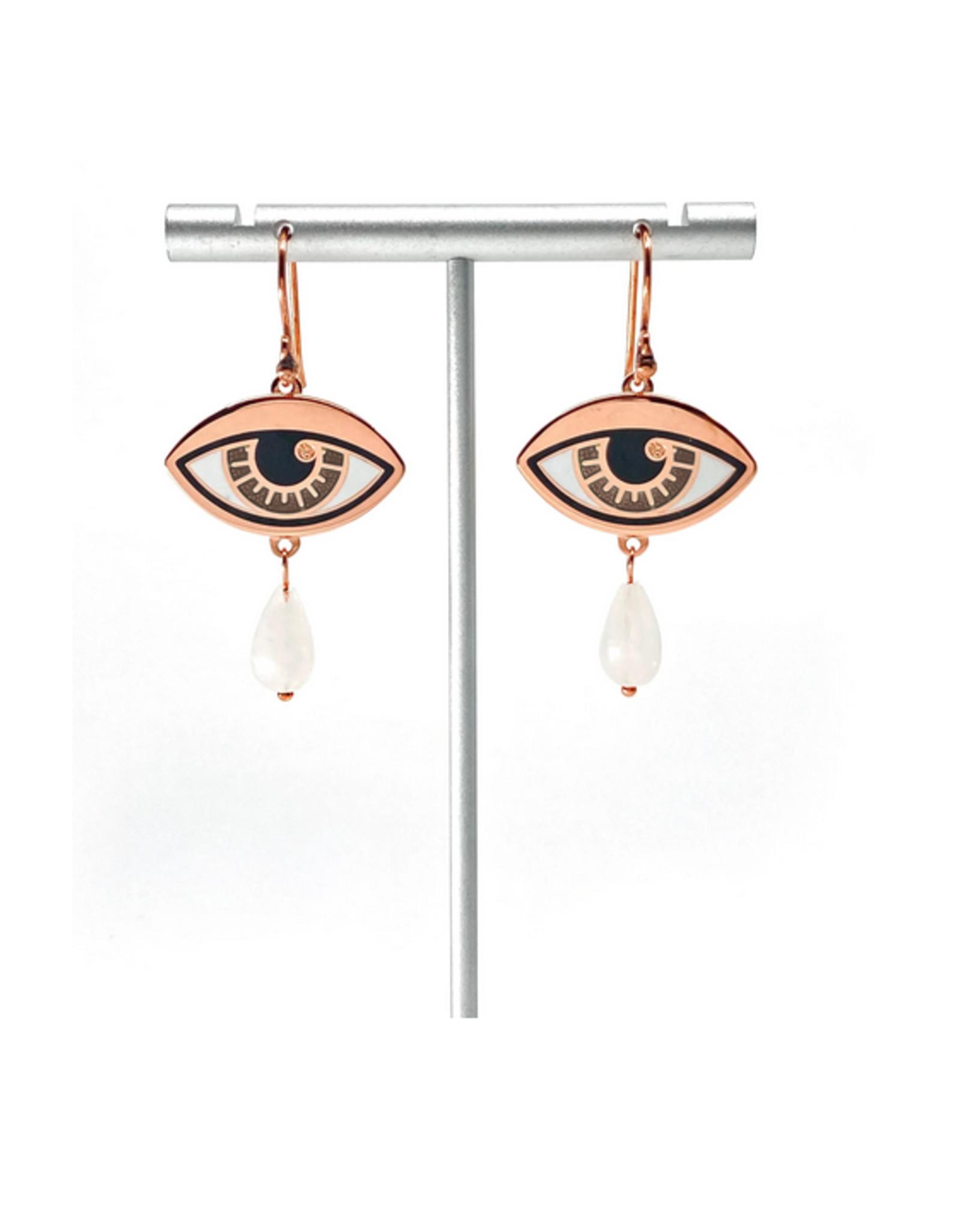 Ersa Eye & Tear Earrings