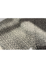 Kantha Rice Grey Embroidered Throw
