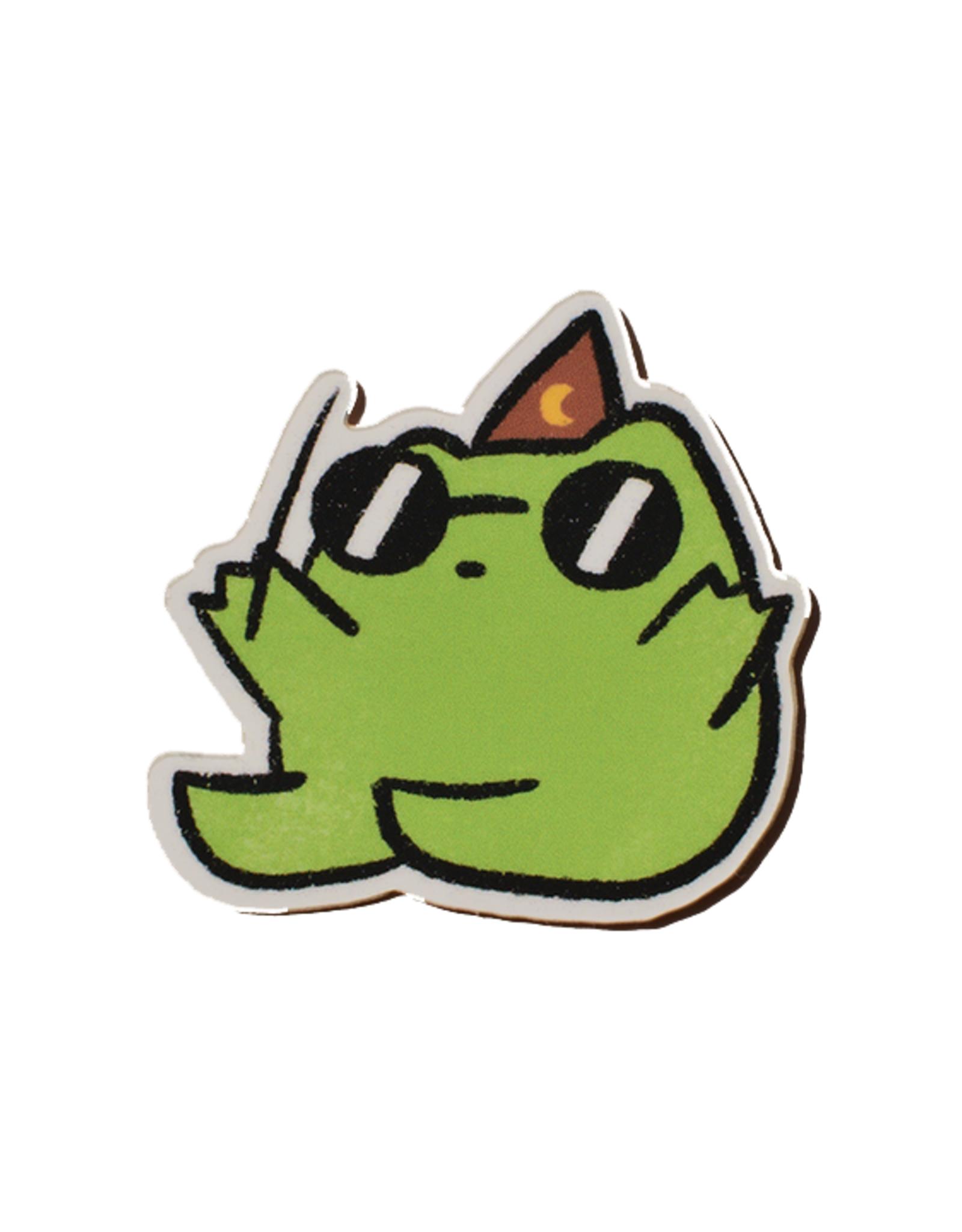 Small Wizard Frog Sticker