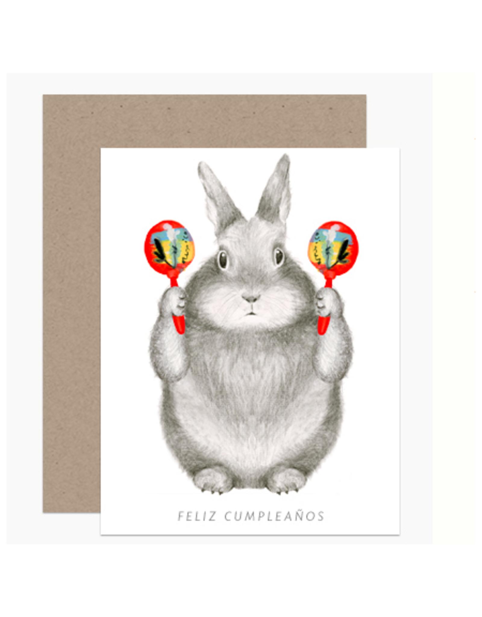 Feliz Cumpleanos Maracas Bunny Greeting Card