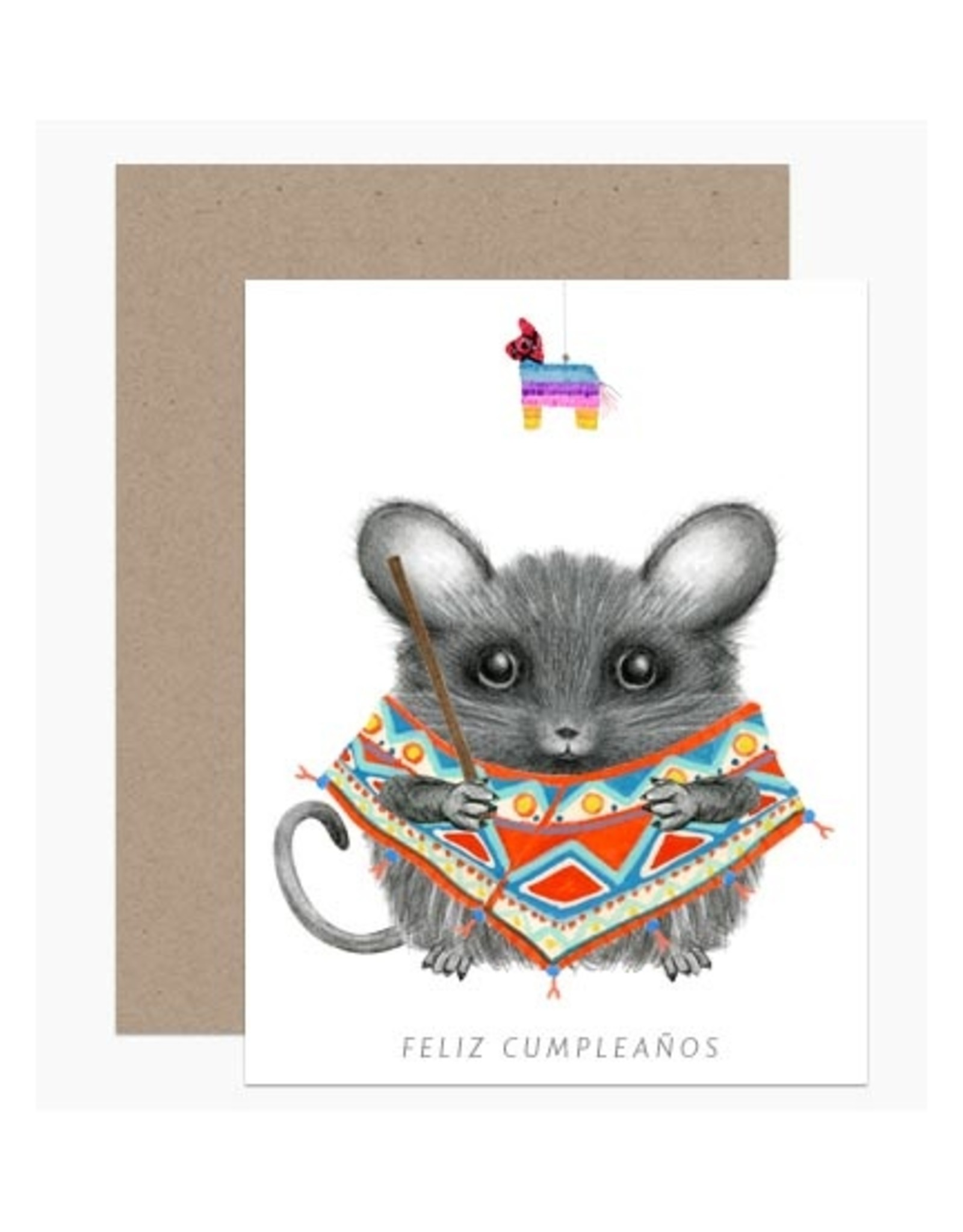 Feliz Cumpleanos Birthday Mouse Greeting Card