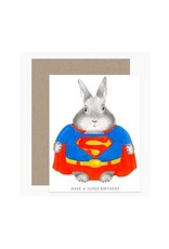 Super Bunny Birthday Greeting Card