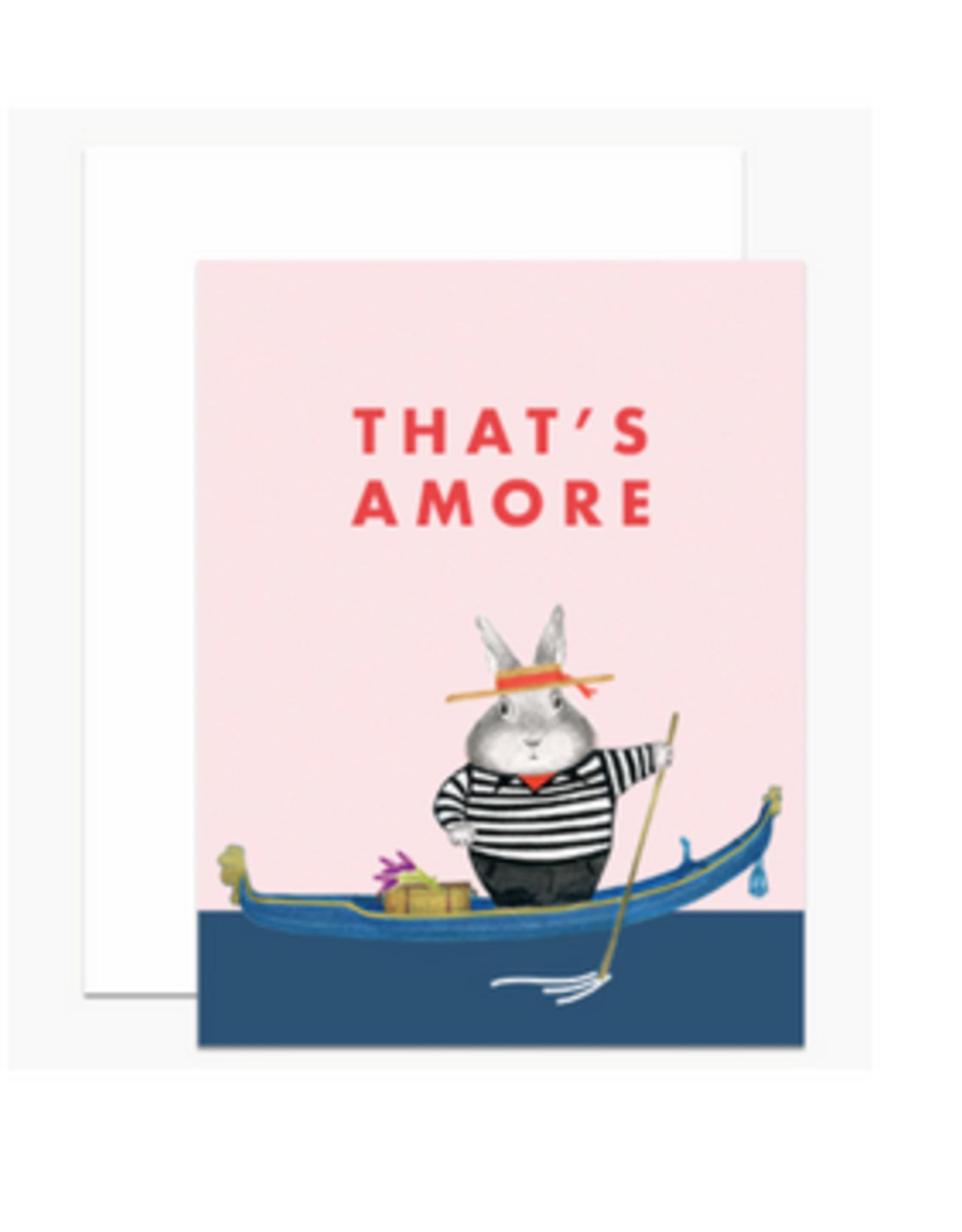 That's Amore Gondola Greeting Card