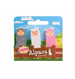 Alpaca Cuties Eraser Set