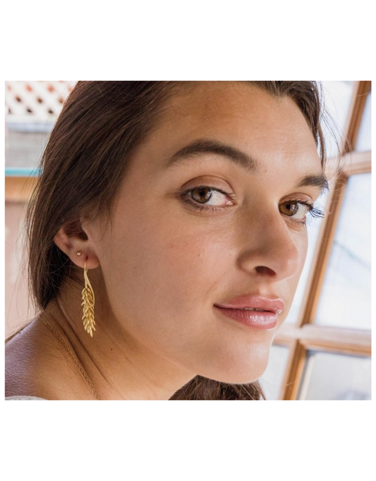 Tropical Flower Drop Earrings