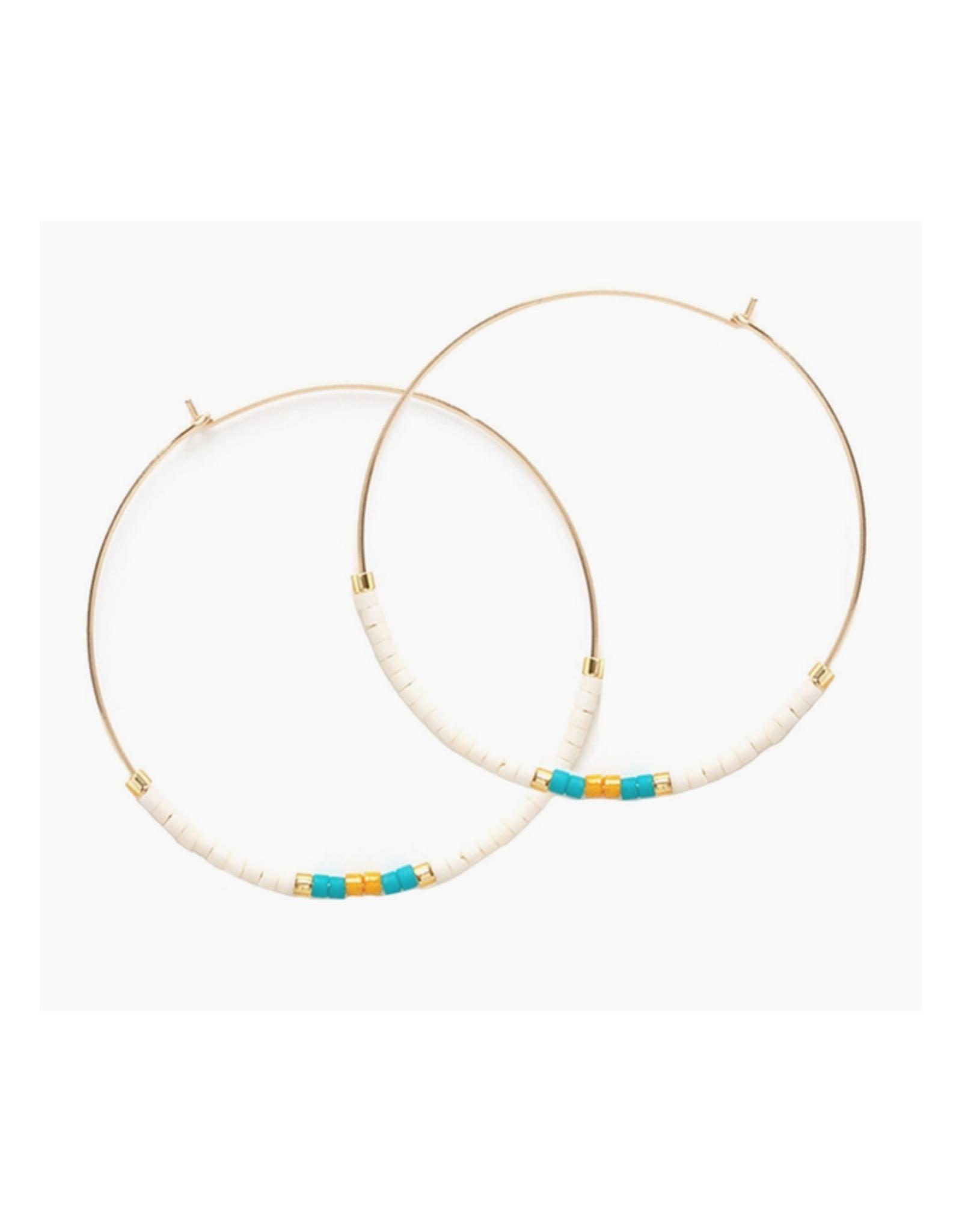 Japanese Seed Bead Earrings - El Mar