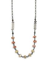 Gunmetal + Gemstone Wire Wrap Necklace