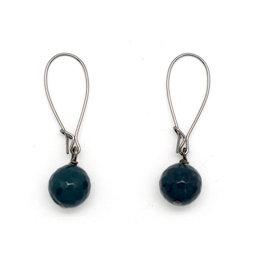 Navy Apatite Earrings
