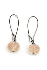 Copper Glass Earrings