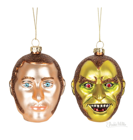 Dr. Jekyll & Mr. Hyde Glass Ornament