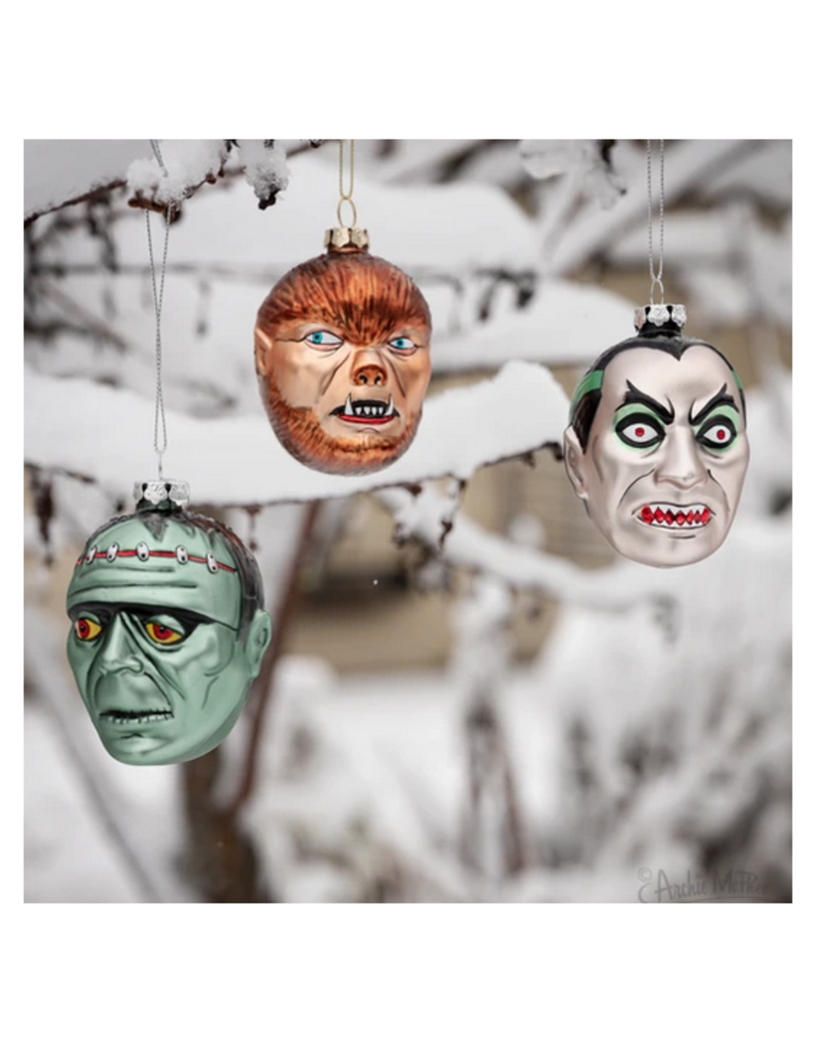 Council of Monsters Set of 3 Ornaments