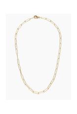 Paper Clip Chain Necklace - Gold