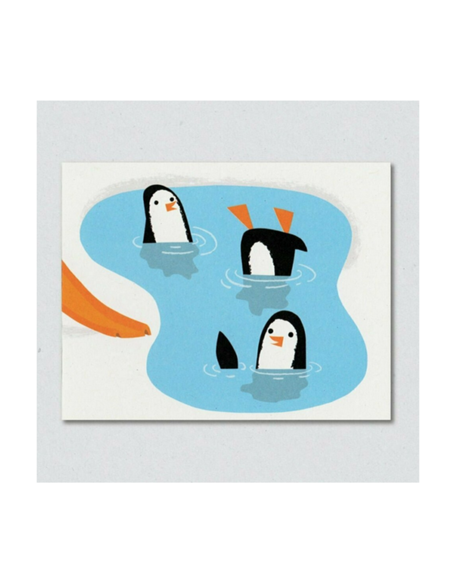 Penguin Pool Party Greeting Card
