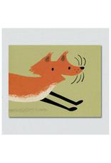 Frolicking Fox Greeting Card