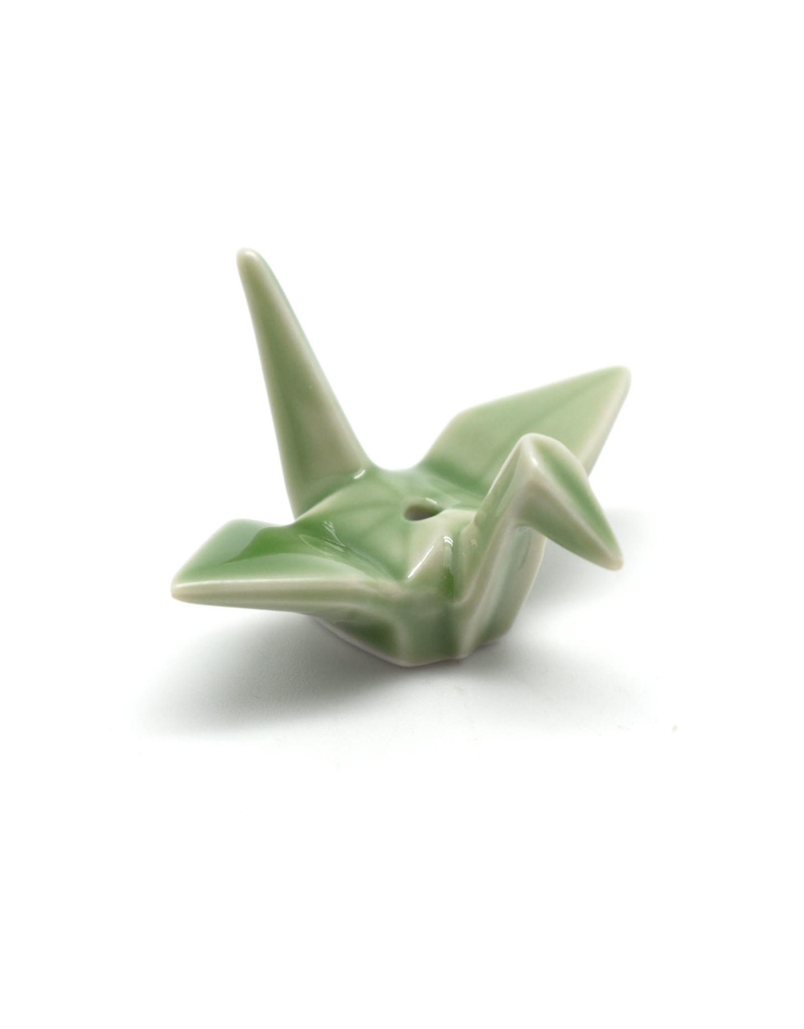 Incense Holder Crane - Green