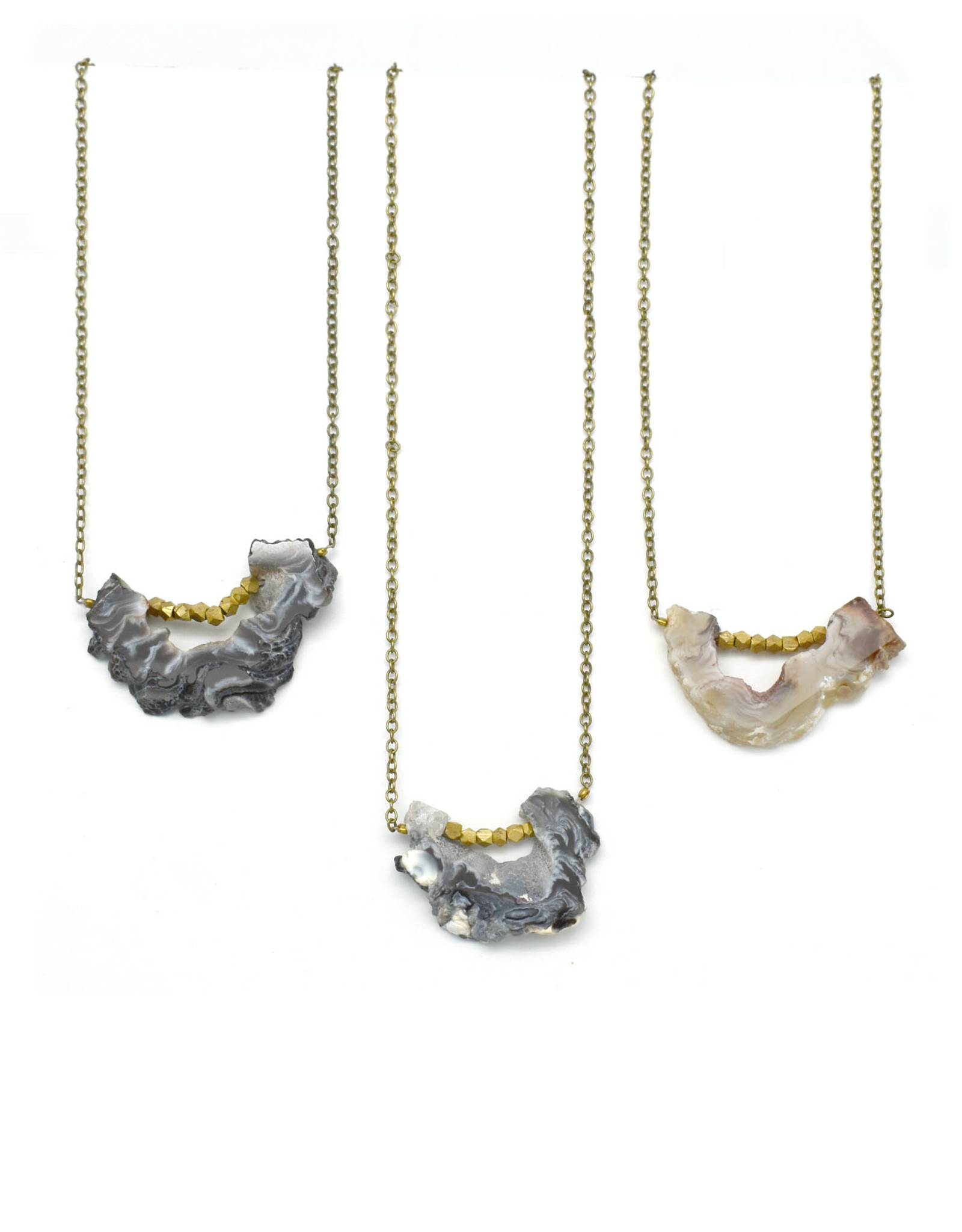 Agate Slice Necklace - Assorted