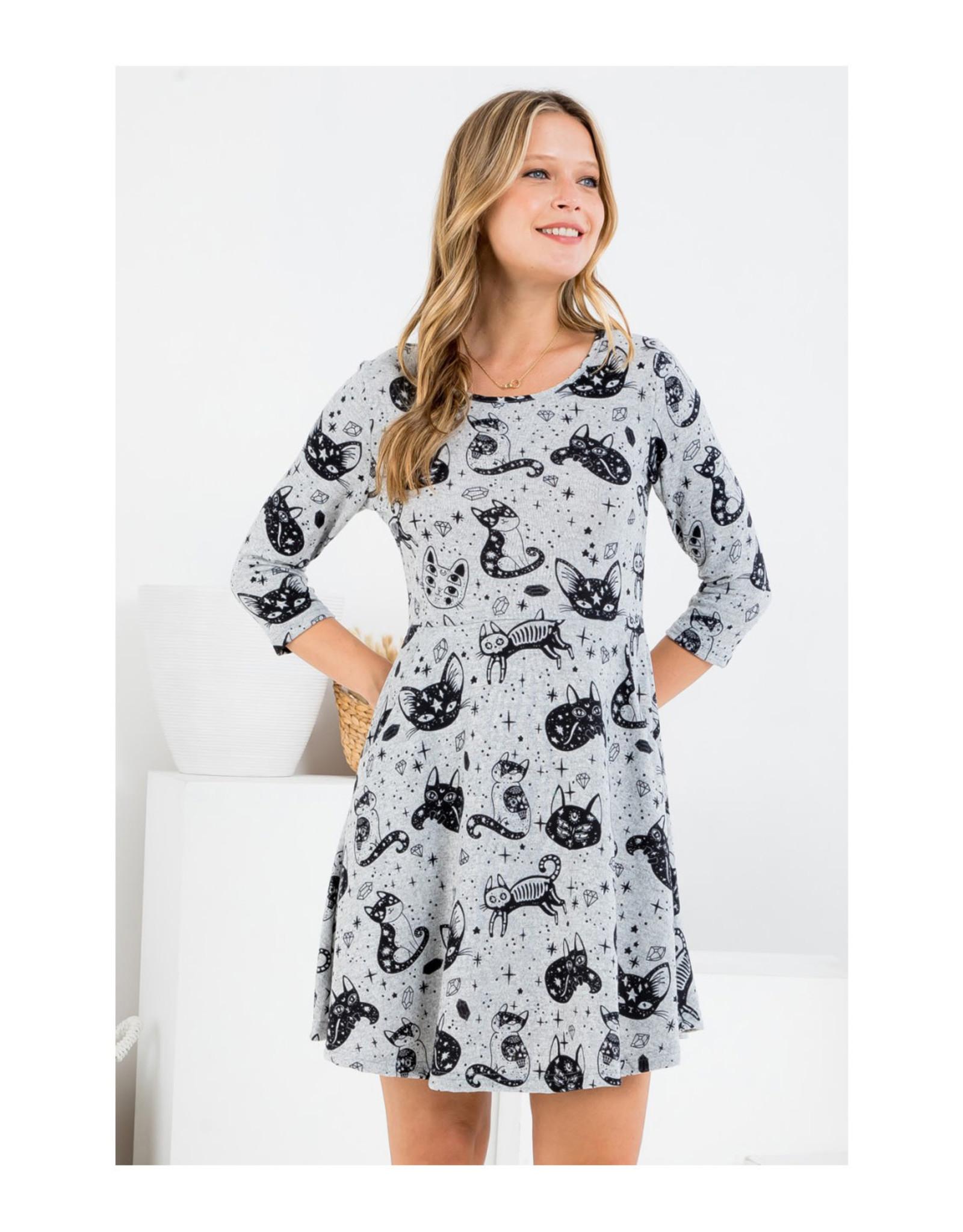 Crystal Kitty Tunic Dress