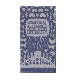 Bullshit Blessings Dish Towel