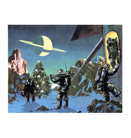 Christmas Tree on Saturn Greeting Card
