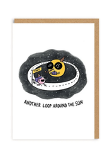 Another Loop Around the Sun Greeting Card