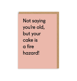Your Cake is a Fire Hazard Greeting Card