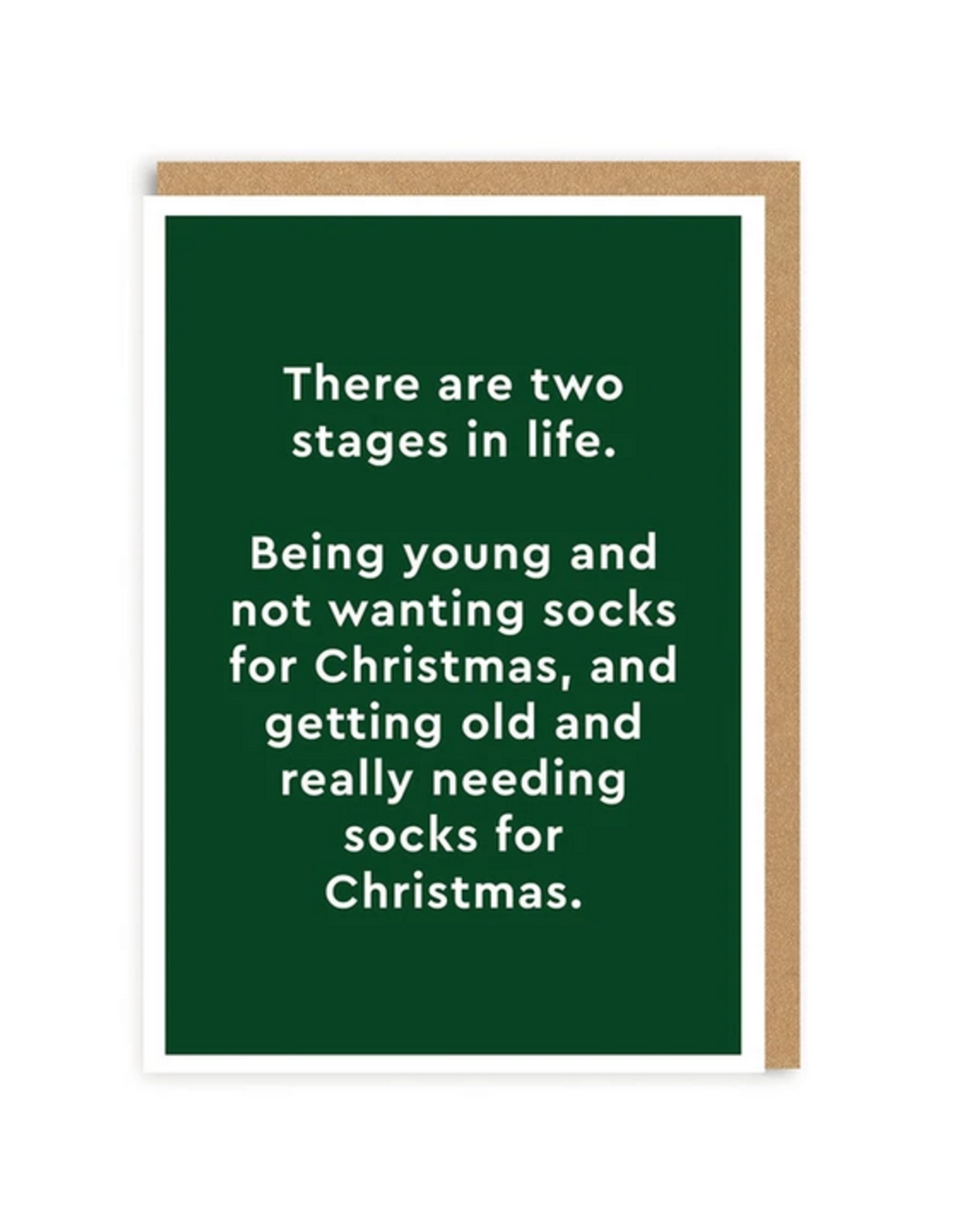 Two Stages in Life Christmas Greeting Card