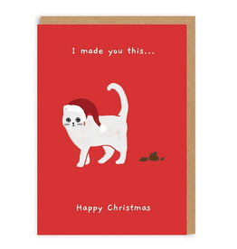 I Made You This Christmas Cat Greeting Card