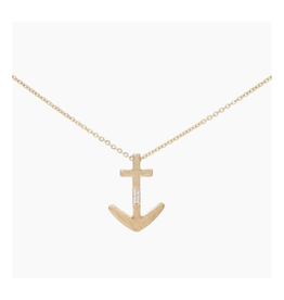 Golden Anchor Necklace