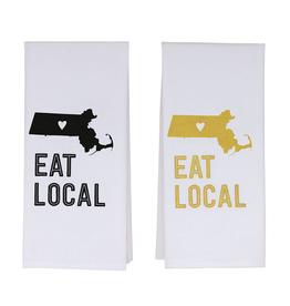 Massachusetts Eat Local Tea Towel
