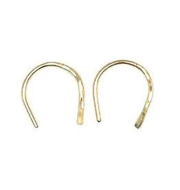 Horseshoe Earrings Gold