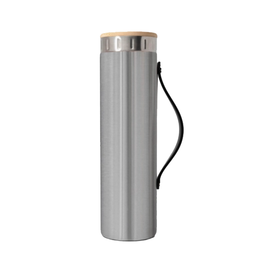 Brushed Steel Water Bottle with Strap - 20 oz