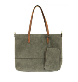 Brushed 2 in 1 Tote :  Fern