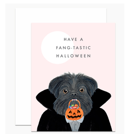Have a Fang-Tastic Halloween Dog Greeting Card