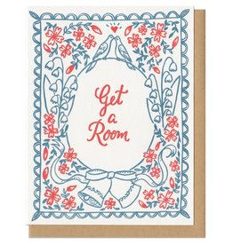 Frog & Toad Press Get a Room (blue) Greeting Card